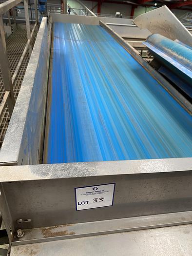 Used Stainless Steel Conveyor Belt 4m L 1m W