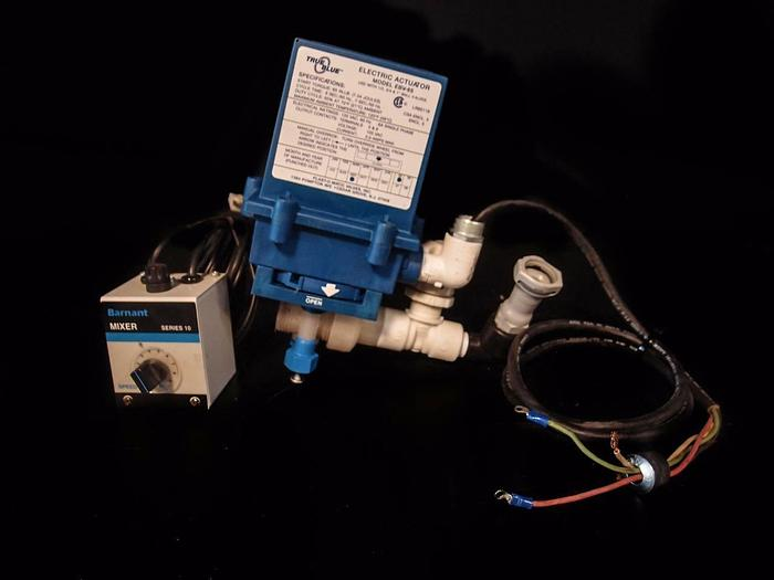 Used True Blue Electric Actuator EBV-65 & Series 10 Barnant Mixer (3521)