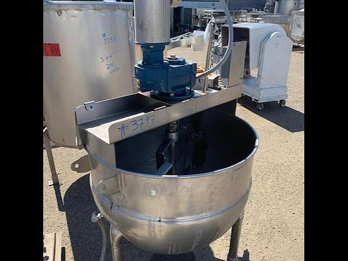 Used Hamilton 100 gal Stainless Steel Jacketed Mix Kettle