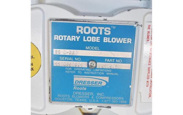 USED ROOTS ROTARY LOBE BLOWER