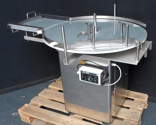 Used P15078D - Rotary Table 90 cm diameter with Feeder KING KV 900