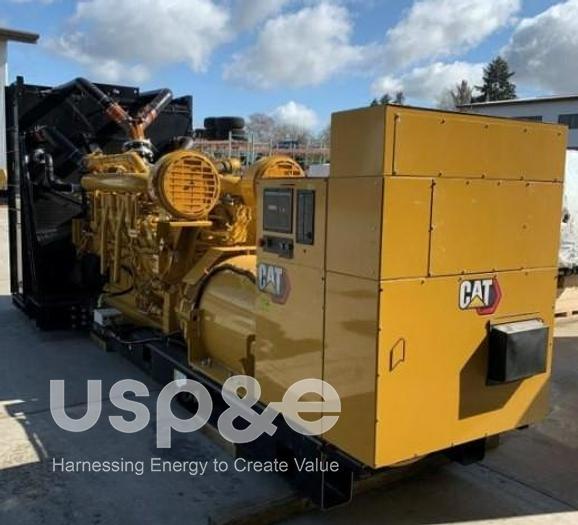 Used 2.5 MW 2020 Used Caterpillar CAT 3516C HD Diesel Generator Sets
