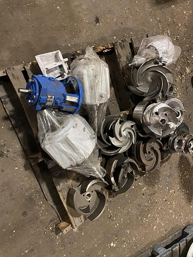 Used AHLSTROM PUMP IMPELLERS STAINLESS STEEL