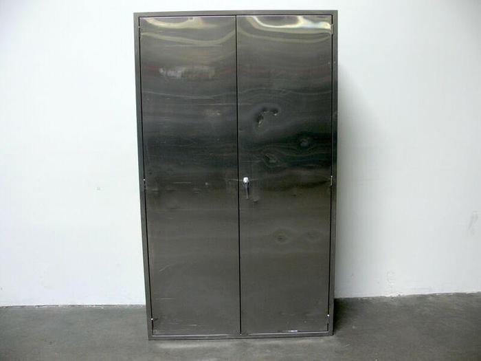 """Used Stainless Steel Storage Cabinet  16"""" x 47"""" x 80"""""""