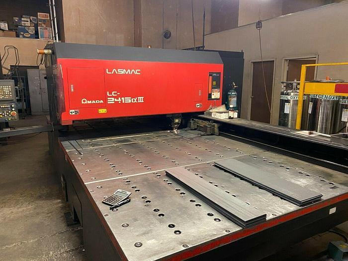 Used 2001 2,000 Watt Amada Pulsar 2415-III CNC CO2 Laser