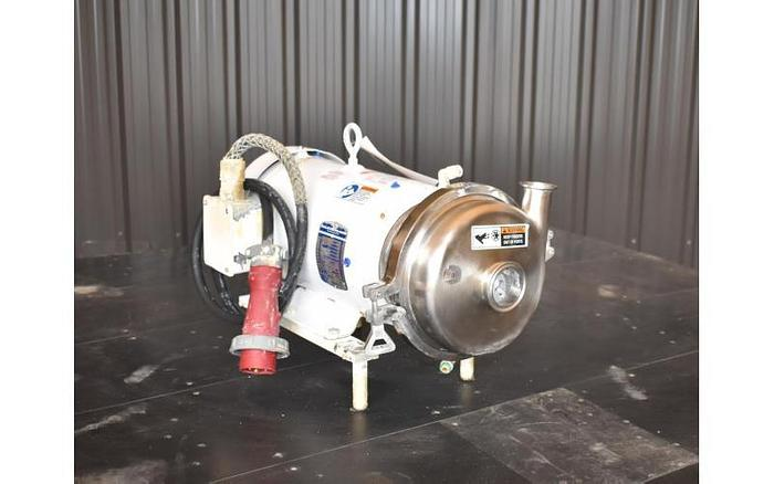 Used USED SPX CENTRIFUGAL PUMP, MODEL 2065LV, 2.5'' X 1.5'' INLET & OUTLET, STAINLESS STEEL, SANITARY