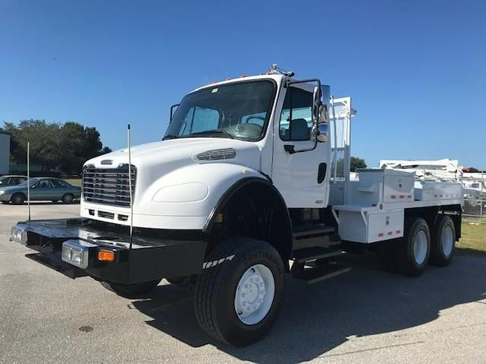 Used 2004 Freightliner M2 106 Flatbed Winch Truck - C08380