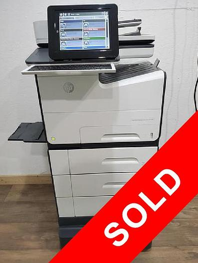 Used HP PageWide MPF 586 Full Color Inkjet Printer. Only 35K Meter!