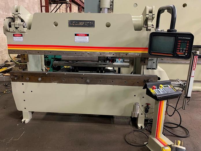 Used 60 TON X 8', ACCURPRESS CNC PRESS BRAKE, MODEL 7608