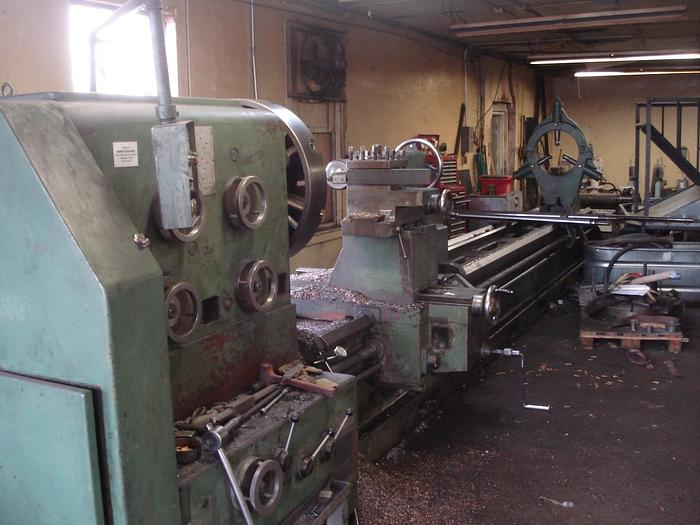 """Used Lansing Engine lathe 60"""" X 240"""",  60"""" Swing, 43"""" Swing over Cross Slide, 240"""" Between centers, 50 HP, 310 RPM, 4"""" Spindle Bore, Pendant Control"""