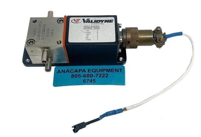 Used Validyne Engineering P55D-30-1970 Pressure Transducer & Transmitter (6745) W
