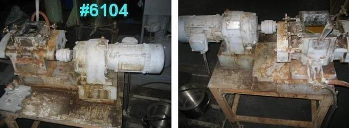 Used 2 GALLON (7.5 LITER) BAKER PERKINS DOUBLE ARM MIXER – C/S – VACUUM – JACKETED – #6104