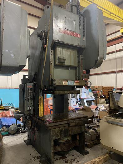 Used BLISS C-150 GEARED GAP FRAME PRESS