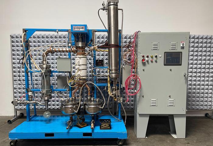 Used Pope Scientific Wiped Film Evaporator w/ SGI Controller