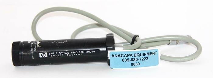 Used HP / Agilent 81521B Optical Head 900-1700nm Power Meter Sensor (8039)W
