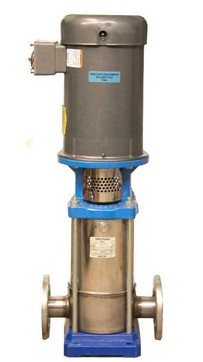 Used Goulds 4SVB1K2D0 SSV Multi-Stage Vertical Booster Pump w/ Baldor VM3219T (7269)R
