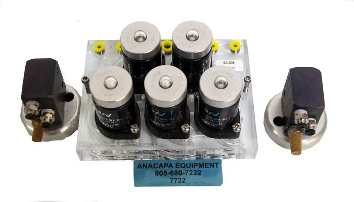 Used Clippard VA-038 CM-038PQ THNTD Circuit W/ Latching Control R-401, R-315 (7722) W