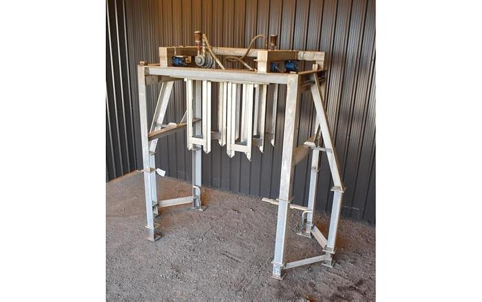 USED STATIC CRUSHER / BLOCK BUSTER, STAINLESS STEEL