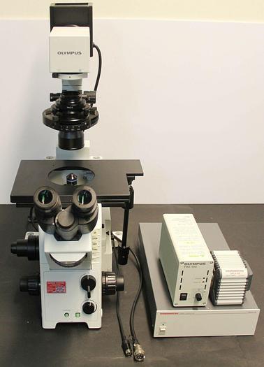 Used Olympus IX71 Inverted Microscope & Hammamatsu Orca-ER C4742-80 Camera (5834)