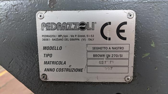 Segatrice a Nastro Automatica PEDRAZZOLI BROWN SN 270/SI