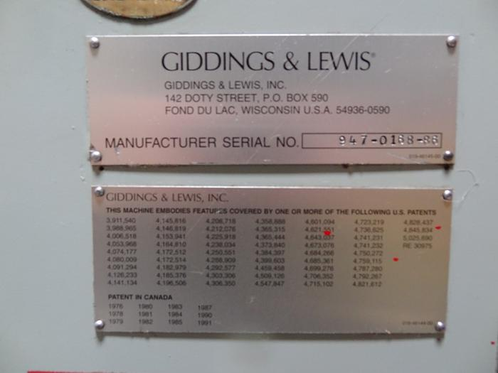 GIDDINGS & LEWIS MODEL HR947 WINSLOWMATIC DRILL GRINDER