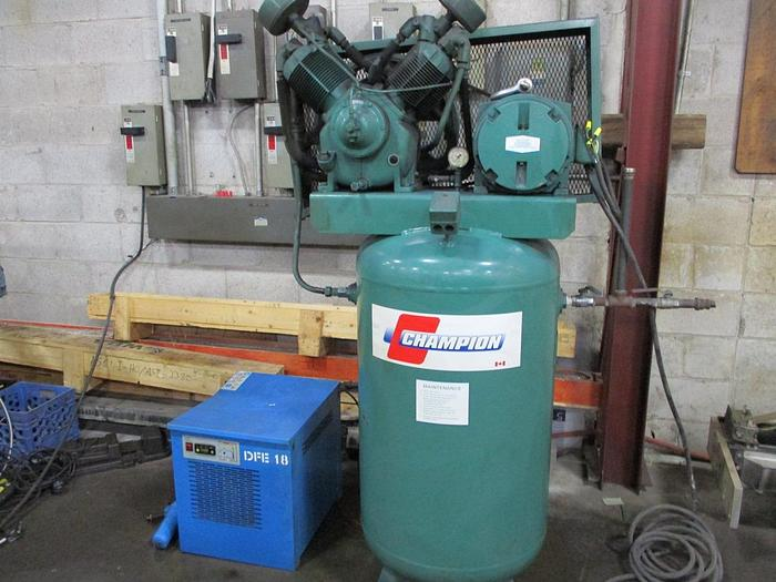 Used 10 HP, CHAMPION , PISTON TYPE AIR COMPRESSOR