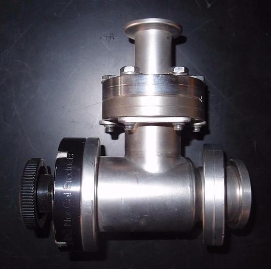 "Used Huntington Vac Manual Bellows Vac-U-Flange Tee Fitting VF-151 2-3/4"" (3288)"