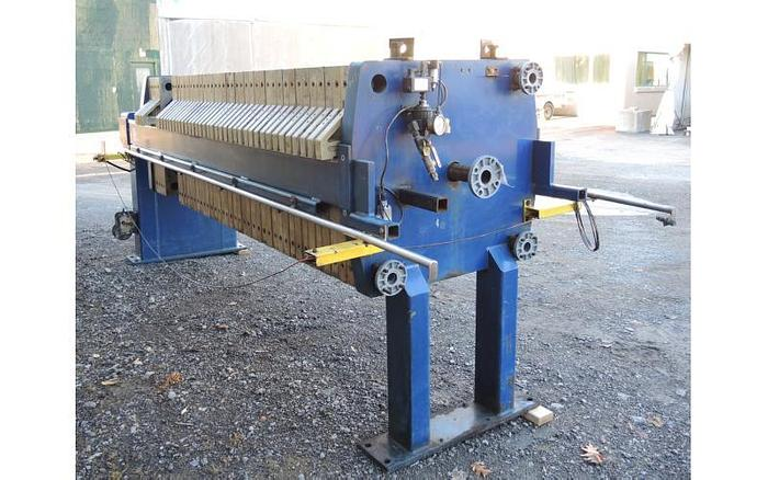USED FILTER PRESS, RECESSED PLATE, GASKETED, 800 MM X 800 MM, POLYPROPYLENE