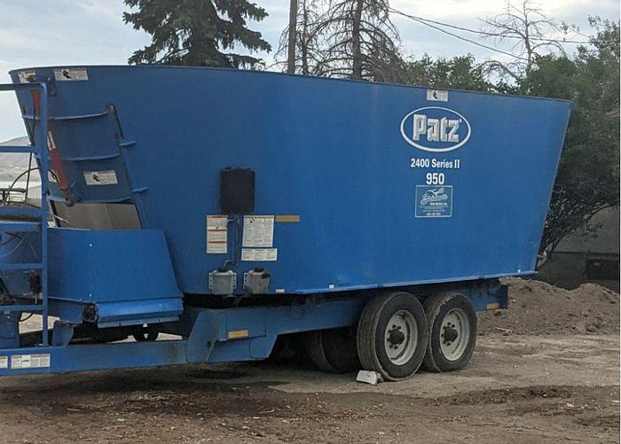 Used 2013 Patz 2400 Series II Vertical Feed Mixer