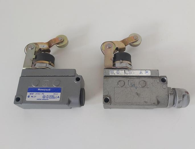 2 Stück Endschalter mit Rollenhebel, BZE7 2RN2, Honeywell,  neu und gebraucht