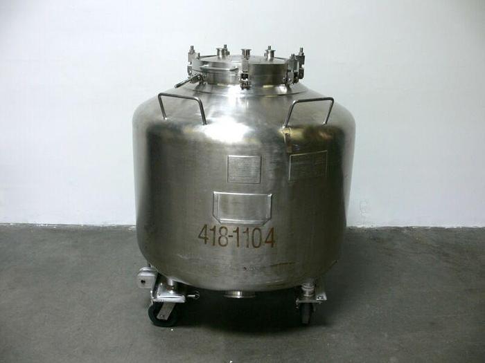 Used Howard 720 Liter / 190 Gallon  Stainless Steel Tank Pressure Vessel 25 PSI