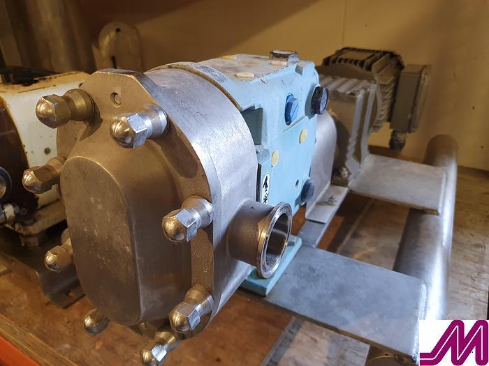 "Used 2011 Waukesha SPX 018 U2 1"" Rotory Lobe Pump with 1.75kw Motor"