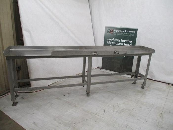"""Used Table; Stainless Steel; 114""""x18"""""""