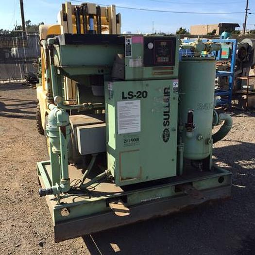 Used Sullair screw compressor 100 hp