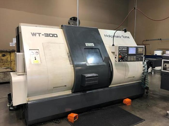 Used NAKAMURA TOME, WT-300MMYS, TWIN SPINDLE / TWIN TURRET TURN/MILL CENTER