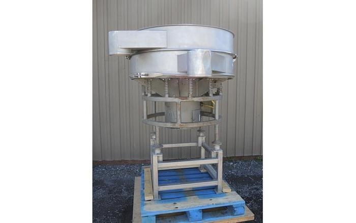 "USED SWECO SCREEN, 48"" DIAMETER, STAINLESS STEEL, SINGLE DECK"
