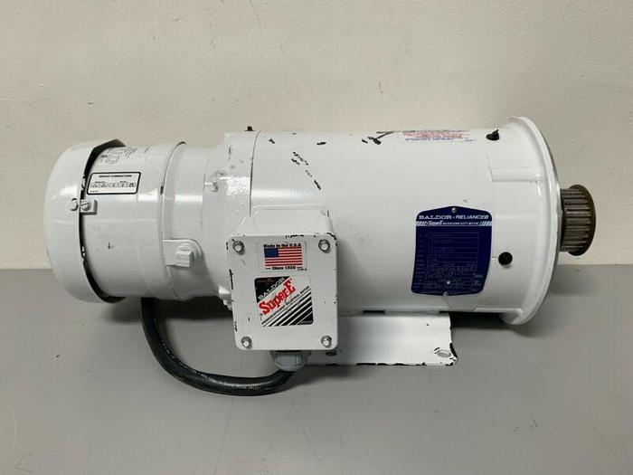 Used Baldor Reliance CEWDBM3611T 3 HP Super-E Motor 1760 RPM 460V 3 Ph w/ Stearns