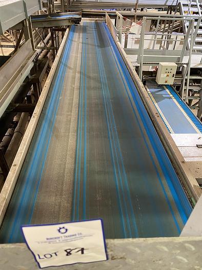 Used Steel Conveyor belt 9.5m L 1.15m W