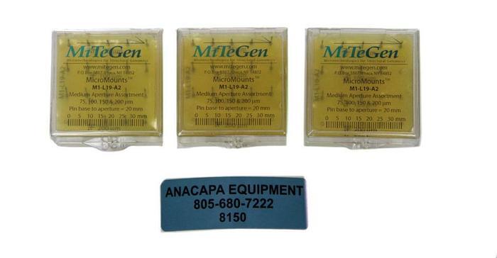 MiTeGen M1-L19-A2, MicroMounts Medium Aperture Assortment Lot of 3 (8150)W