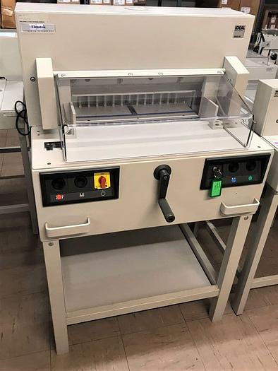 Used Second-hand IDEAL 4850-95 Power Electric Guillotine With Automatic Clamp