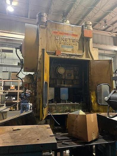 200 ton Minster P2 Stamping Press