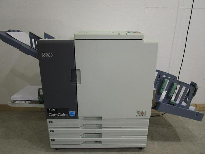 Used Riso ComColor 7150 X1 Full Color Inkjet Printer with Auto Stacking Tray