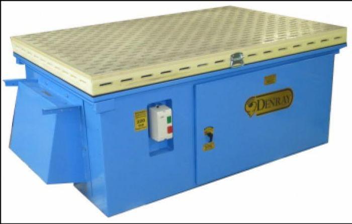 Used Denray 3672 Downdraft Table