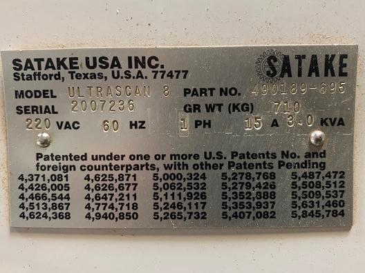 2007 Satake Ultra Scan  Model UltraScan 8