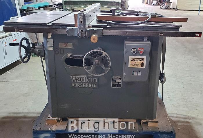 Used Wadkin 14AGS, Used Table Saw
