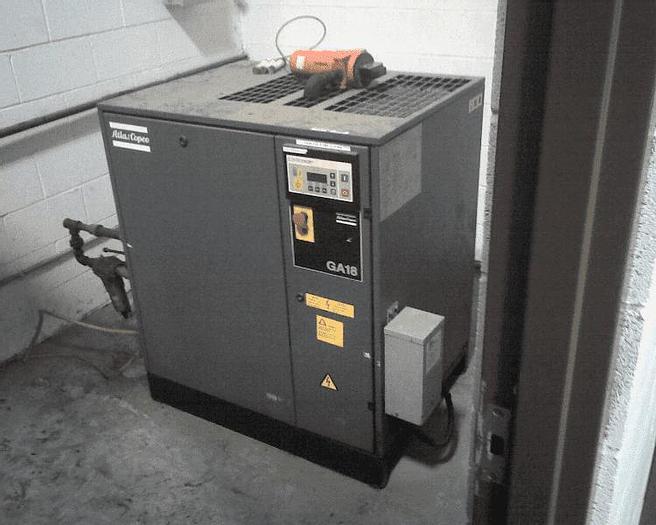 Used 25 HP ATLAS COPCO AIR COMPRESSOR – GA18