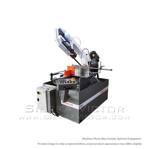 HE&M Semi-Automatic Double Miter Bandsaw 450 BSA