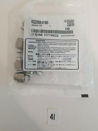 *NEW - 10PK *KQ2H08-01NS SMC MALE CONNECTOR  + FAST SHIPPING!