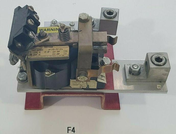 Used SIEMENS 14-193-757-576 Type 720 120-240VDC Contactor With 96VDC Coil + Warranty!