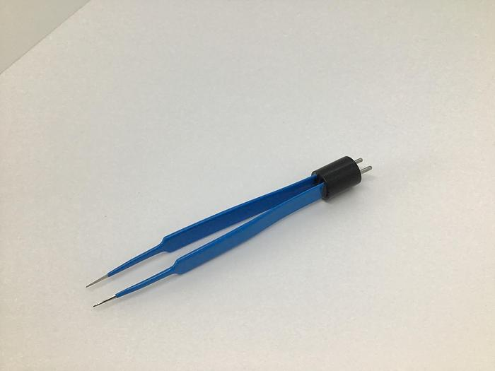 Forceps Diathermy fine 0.5mm Tip Blue Coated 120mm